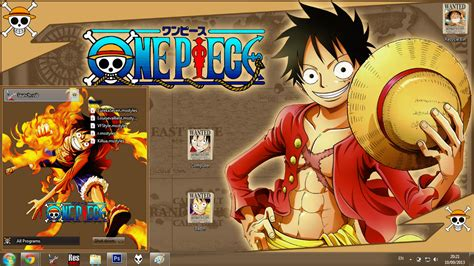 psp themes one piece new world anime skin theme win 7 monkey d luffy new world one