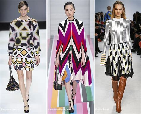 geometric pattern in fashion fall winter 2016 2017 print trends fashionisers
