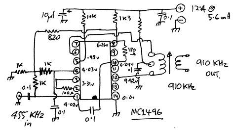 Mc1496d Mc1496 Mc 1496 Ic Balance Modulator dsbsc demodulation by the squaring loop technique