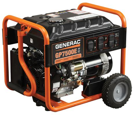 generac 5943 gp7500e commercial residential 7500w portable