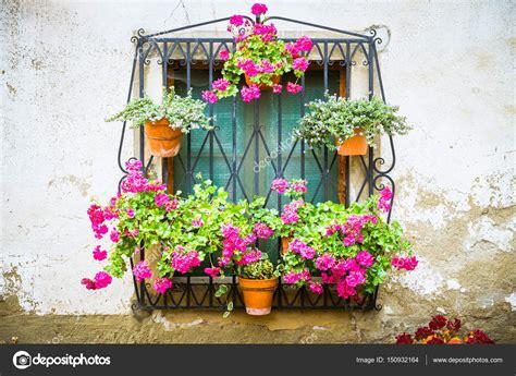 immagini vasi di fiori vecchia strada con vasi di fiori foto stock 169 pabkov