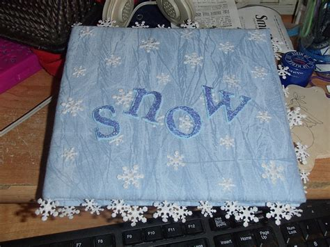 how to make a cheap snow blancket snow fabric album 183 a fabric book cover 183 other on cut out keep 183 creation by pammie