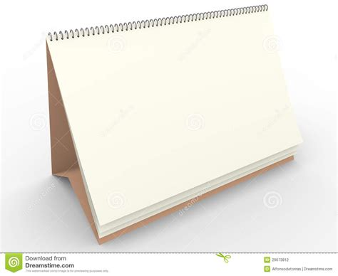 stock photo template blank calendar template stock photography image 29073812