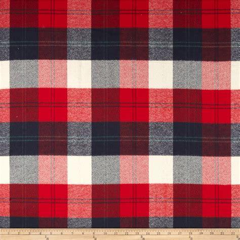 Flannel Tartan Square Navy Plaid Fabric Plaid Fashion Fabric By The Yard Fabric