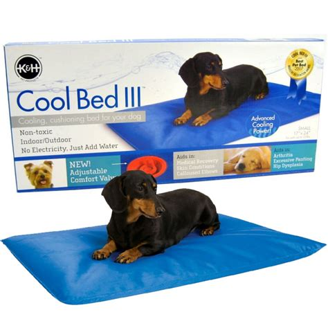 cooling dog bed k h pet products k h cool bed lll blue cushion bed