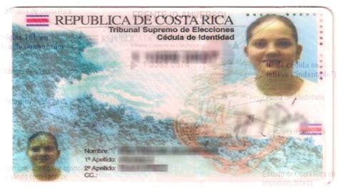 costa rica identidad las cedulas de identidad cambiar 193 n de formato a partir de