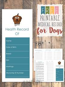 pet health record template free printable record for dogs tastefully eclectic
