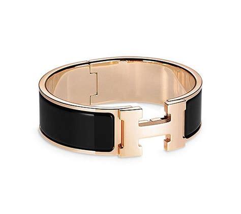 Hermes Hm022 Rosegold hermes wide enamel bracelet gold plated hardware 2 25 quot diameter 7 5 quot circumference 1