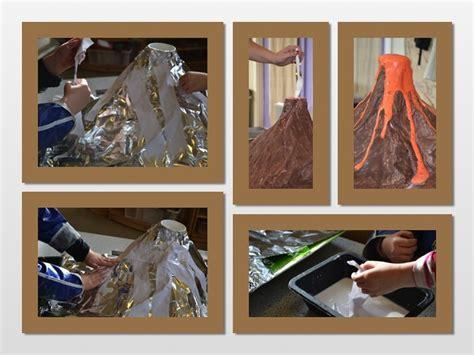 How To Make A Volcano Paper Mache - paper mache volcano class project for bren