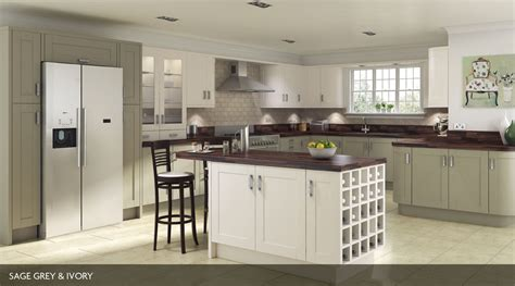White And Grey Kitchen Ideas Shaker Painted Our Kitchens Sheraton Kitchens