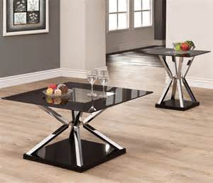 702637 2 pcs occassional table set modern coffee tables