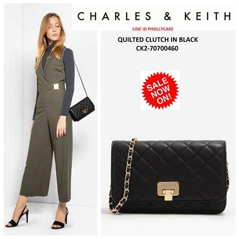 Charles Keith Clutch 064 กระเป า charles keith quilted clutch ck2 70700460 ลายสามเหล ยม พร อมส งท ไทย ชนชอปส งคโปร