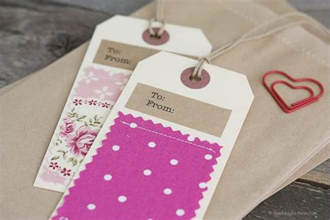 fabric gift tags live laugh rowe