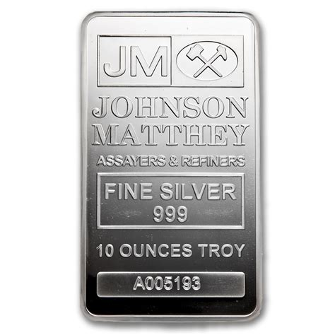10 Oz Silver Bar Rcm 9999 New Style - johnson matthey 10 oz silver bars for sale buy johnson