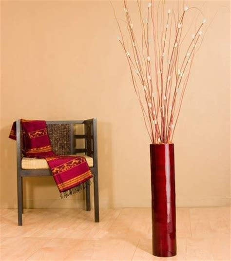 decorative bamboo sticks in vase best of decorative sticks for vases 26 quot mahogany red bamboo cylinder floor vase decorative