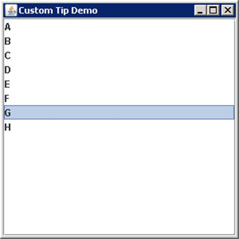 java swing tooltip adding element level tooltips to list items jlist