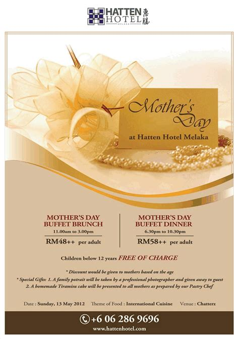 s day hotel malacca tourism association hatten hotel mothers day promo