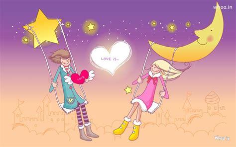 wallpaper hd love couple cartoon cartoon love couple hd wallpaper