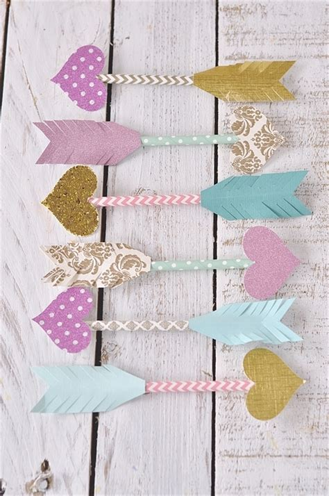 paper straw arrows dress up your card or gift