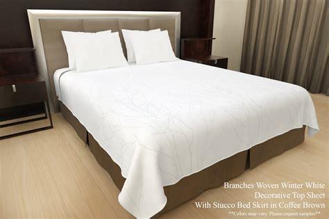imprinted branches top sheet mayfair hotel supply