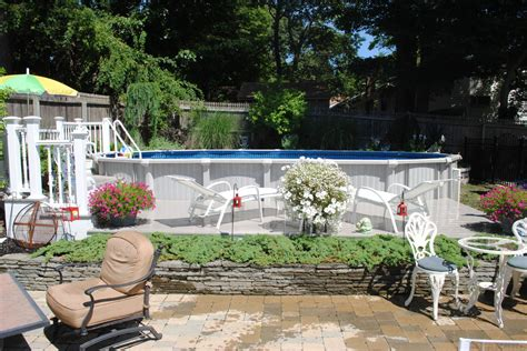 delightful semi inground pools decorating ideas for pool