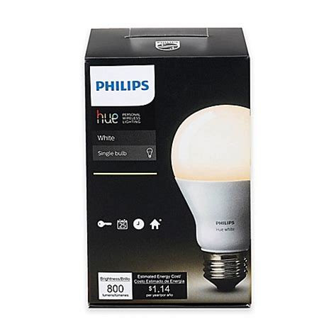 philips 468058 hue white a19 light bulbs 3 pack philips hue white a19 single dimmable led bed bath
