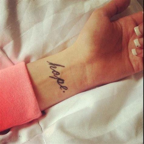 Hope Tattoo On Wrist Designs   10 best hope tattoo designs pretty designs