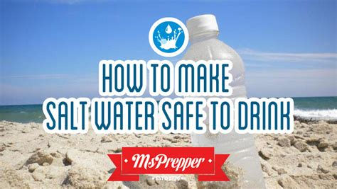 how to make drink water how to make salt water safe to drink msprepper
