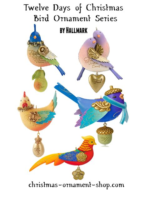 12 days of hallmark ornaments hallmark twelve days of bird series