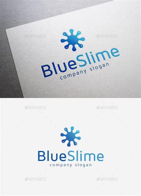 Blue Slime Logo By Emilguseinov Graphicriver Slime Logo Template