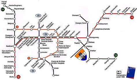 transport map brussels ecoop 98 useful to