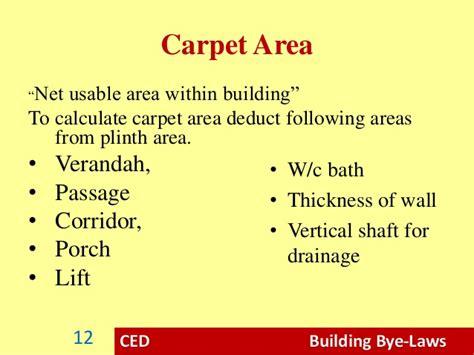 calculation of carpet area meze