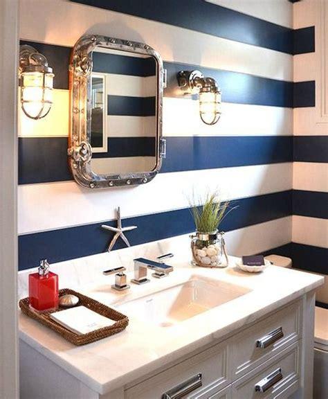 navy blue badezimmer coastal wall treatment ideas for the bathroom zuhause
