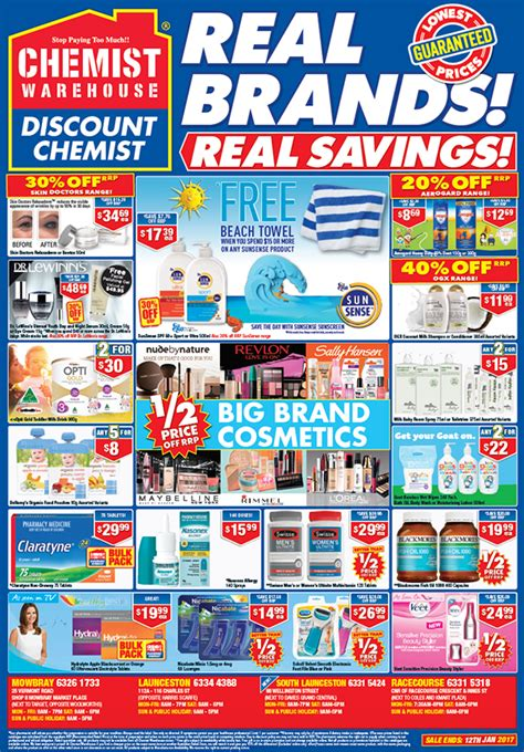 chemist warehouse catalogue ads on behance
