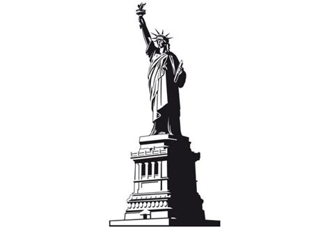 Skyline Wall Sticker new york statue of liberty wall decal nyc style vinyl