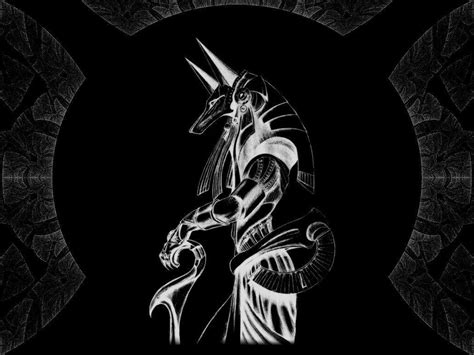 black and white wallpaper of god anubis wallpapers wallpaper cave