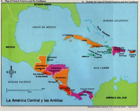 mapa america central y antillas la america central y las antillas geografia