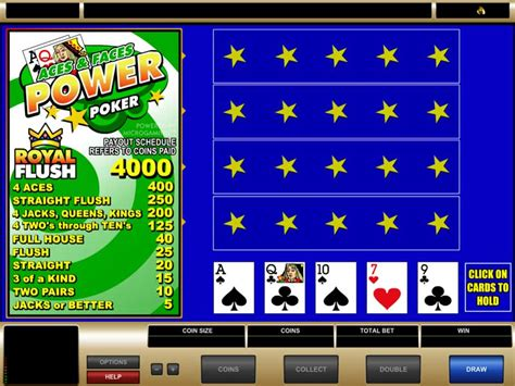 play aces  faces  play power poker  microgaming