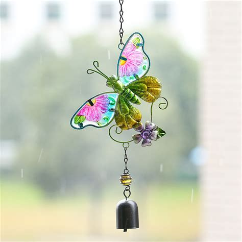 Handmade Wind Chimes For Your Home - butterfly handmade wind chime suncatcher alu bar bell