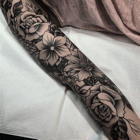 Best 25 Flower Sleeve Ideas On Pinterest Half Sleeve Black Flower Sleeve