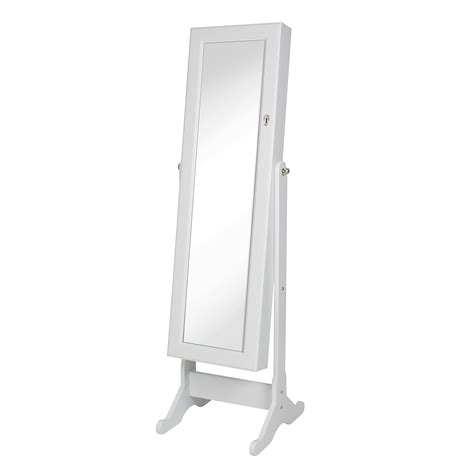 white mirrored jewelry armoire white mirror jewelry cabinet armoire w stand mirror rings necklaces bracelets