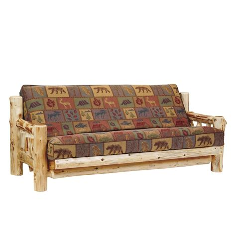 log futon cedar log futon