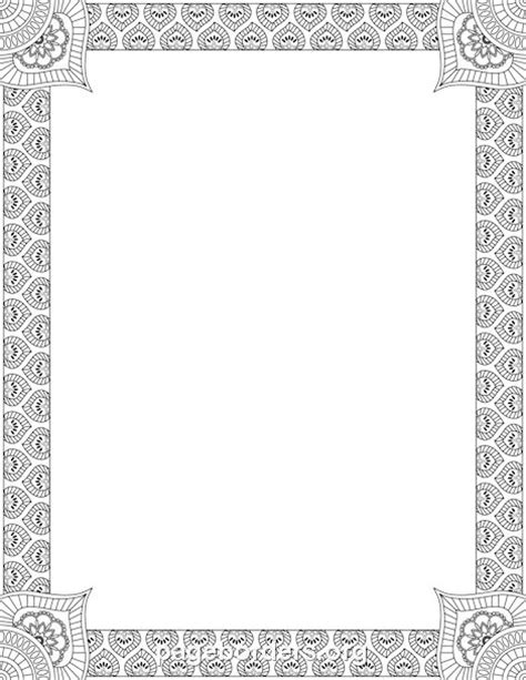 Wilton Ms Word Templates Silver Border Place Cards by Printable Henna Border Use The Border In Microsoft Word