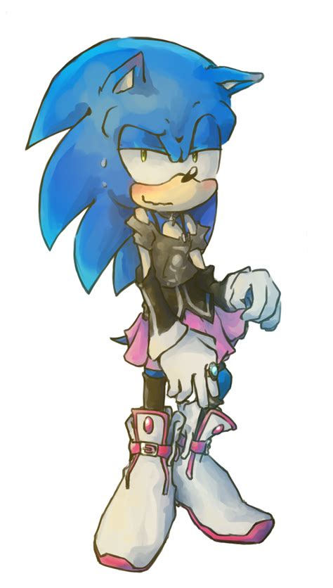commission sonic wearing ia clothes by zjedz goffra on