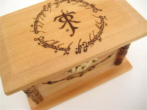 wedding ring box lord of the rings inspired wedding