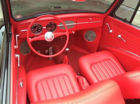 volkswagen beetle convertible interior vw beetle custom interior