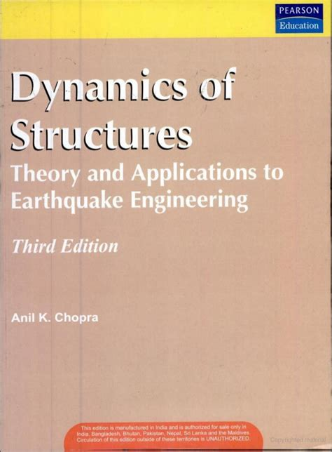 earthquake engineering and structural dynamics dynamics of structure theory and application of earthquake