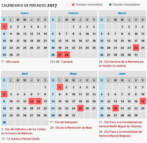 Calendario Argentina 2017 Consult 225 El Calendario De Feriados 2017 De La Argentina