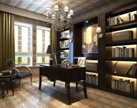 Interior Design Home Study Study Room Interior Decoration With Green Chair 3d House