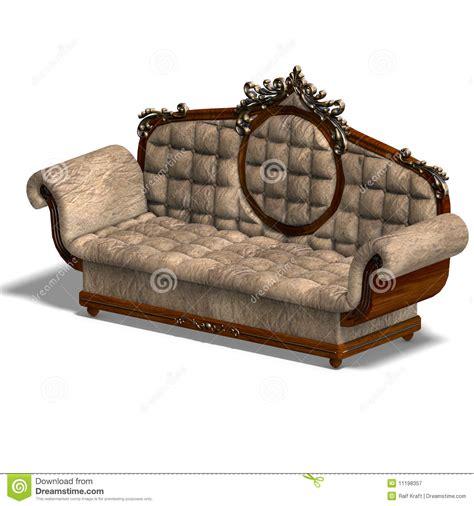 Cushy Sofa by Cushy Sofa Of Louis Xv Royalty Free Stock Photography